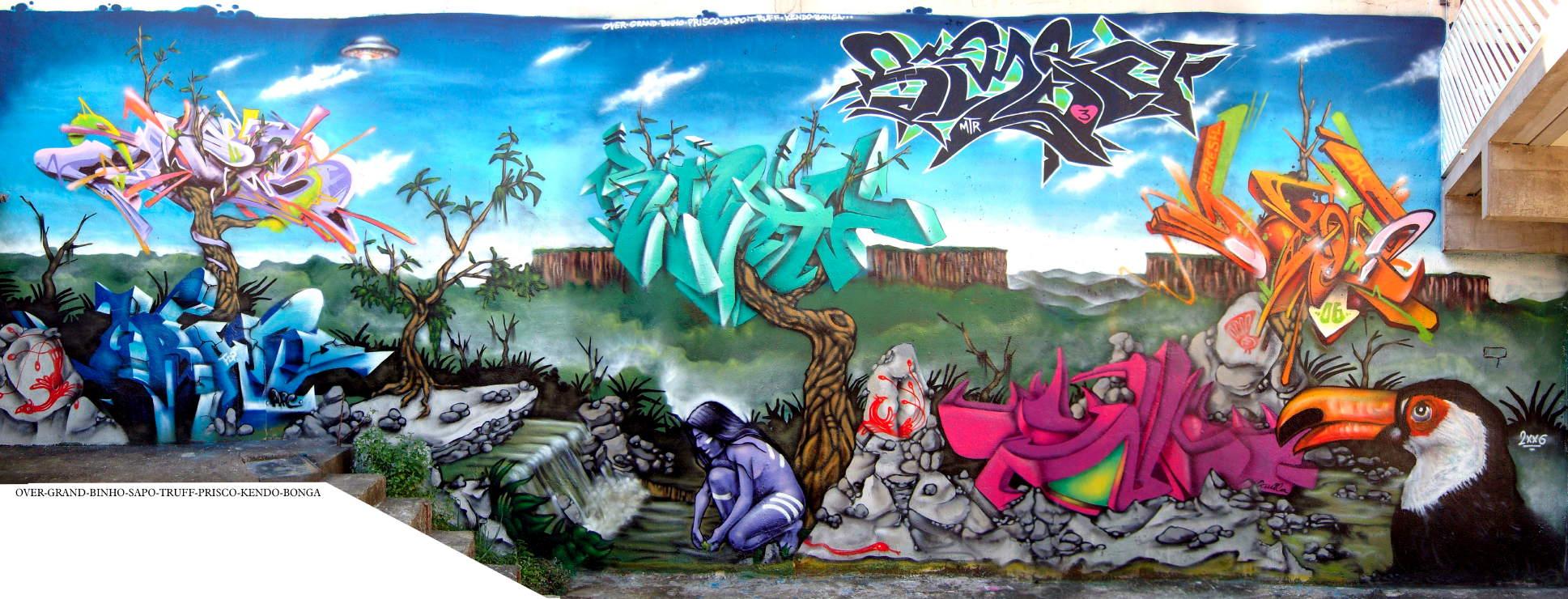 El verdadero arte callejero taringa for Graffitis y murales callejeros