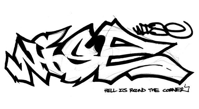 UK Graffiti Outlines