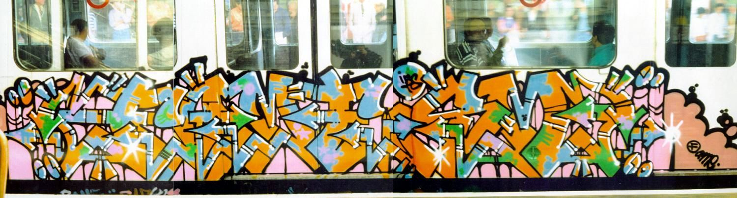 Old School London Tube Graffiti - Fame Trains Graffiti