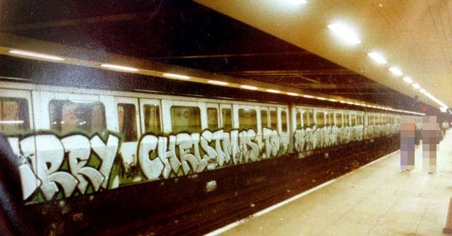 Old School London Tube Graffiti 9 / Whole Train