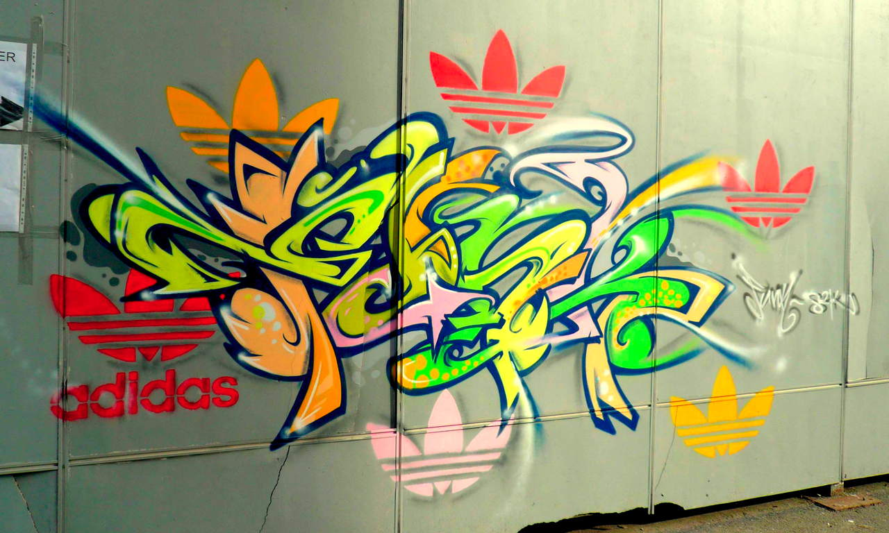 Adidas Logo Graffiti Street party logo for adidas@Share on ...