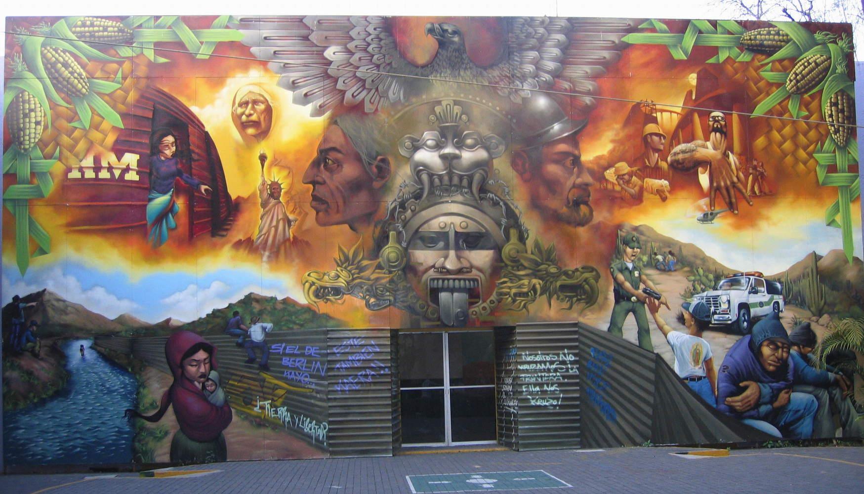 Мехико уличные граффити