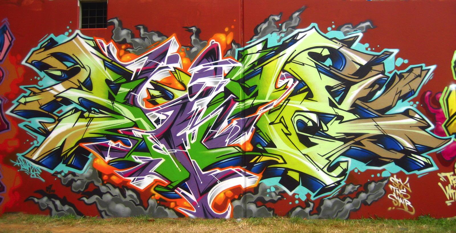 Превращение из картинки в граффити