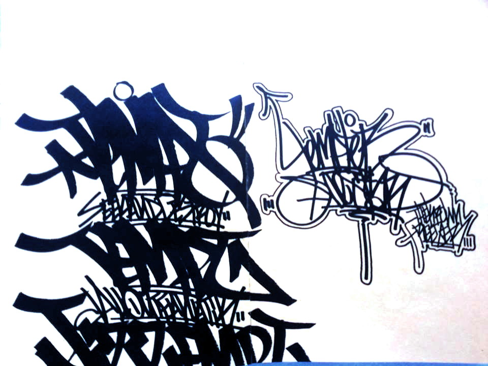 Graffiti art writing