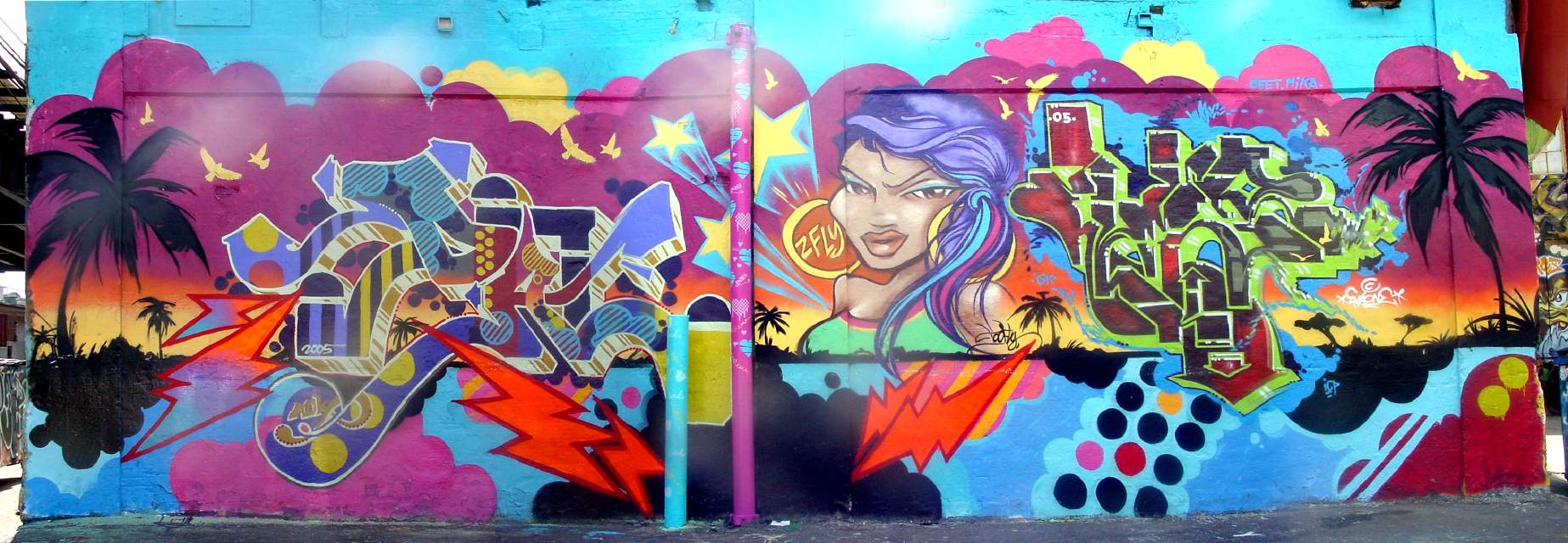 Queen Andrea, Inks, Ema, Toofly 2005, at 5 Pointz