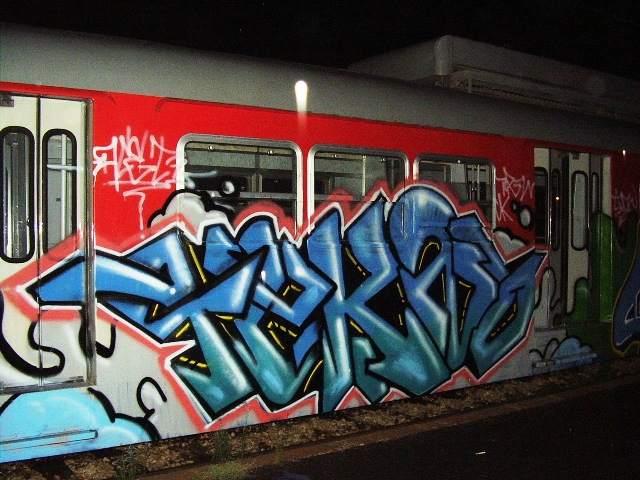 Art crimes: trains 208 - mixed european trains