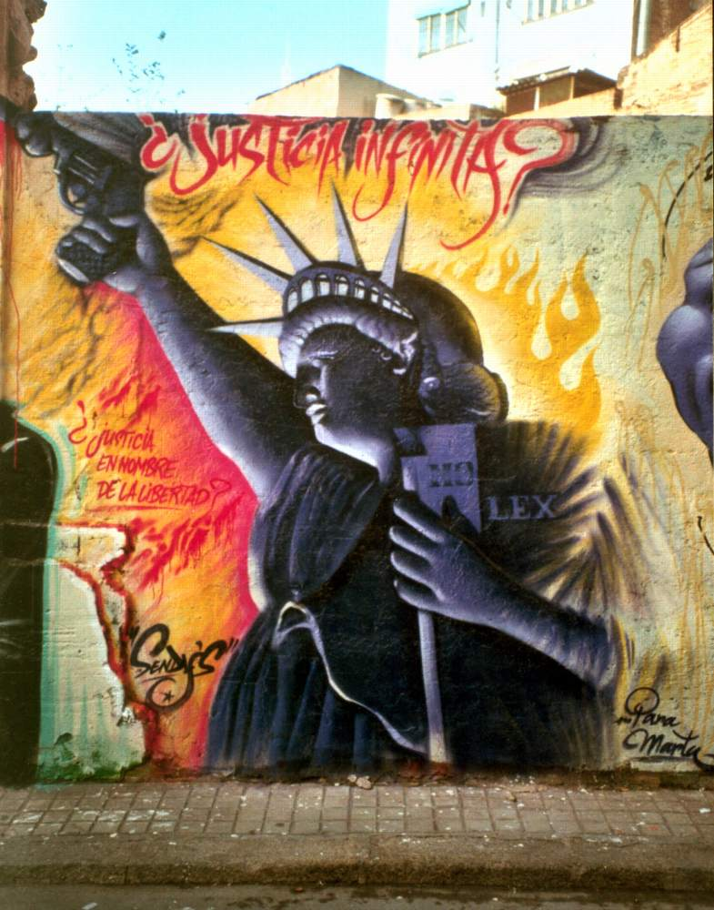 anti Iraq war street art ,Spain, 2003