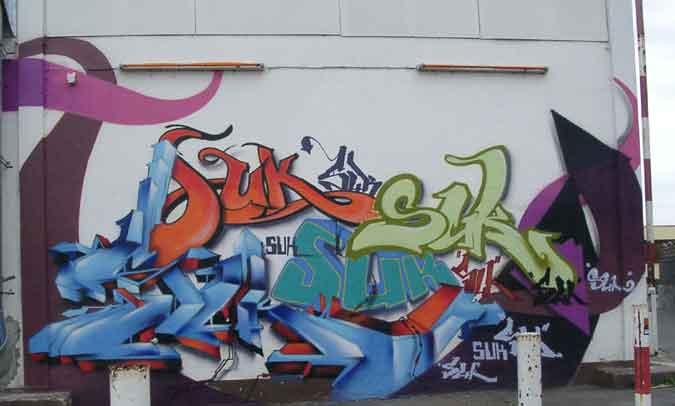 شوفو فن الكتابة على الجدران في u.s.a